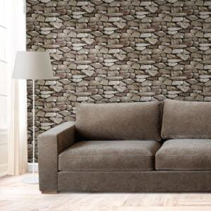 Ταπετσαρία Τοίχου Φυσική Πέτρα 0.53×9.5m±3%