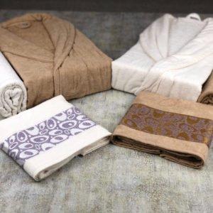 More4u Μπουρνούζια με Πετσέτες Σετ 6 Τεμαχίων