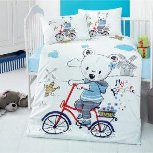 Σετ Παιδικά Σεντόνια Βαμβακερά 100×150 ( 4Τμχ) – My Bike