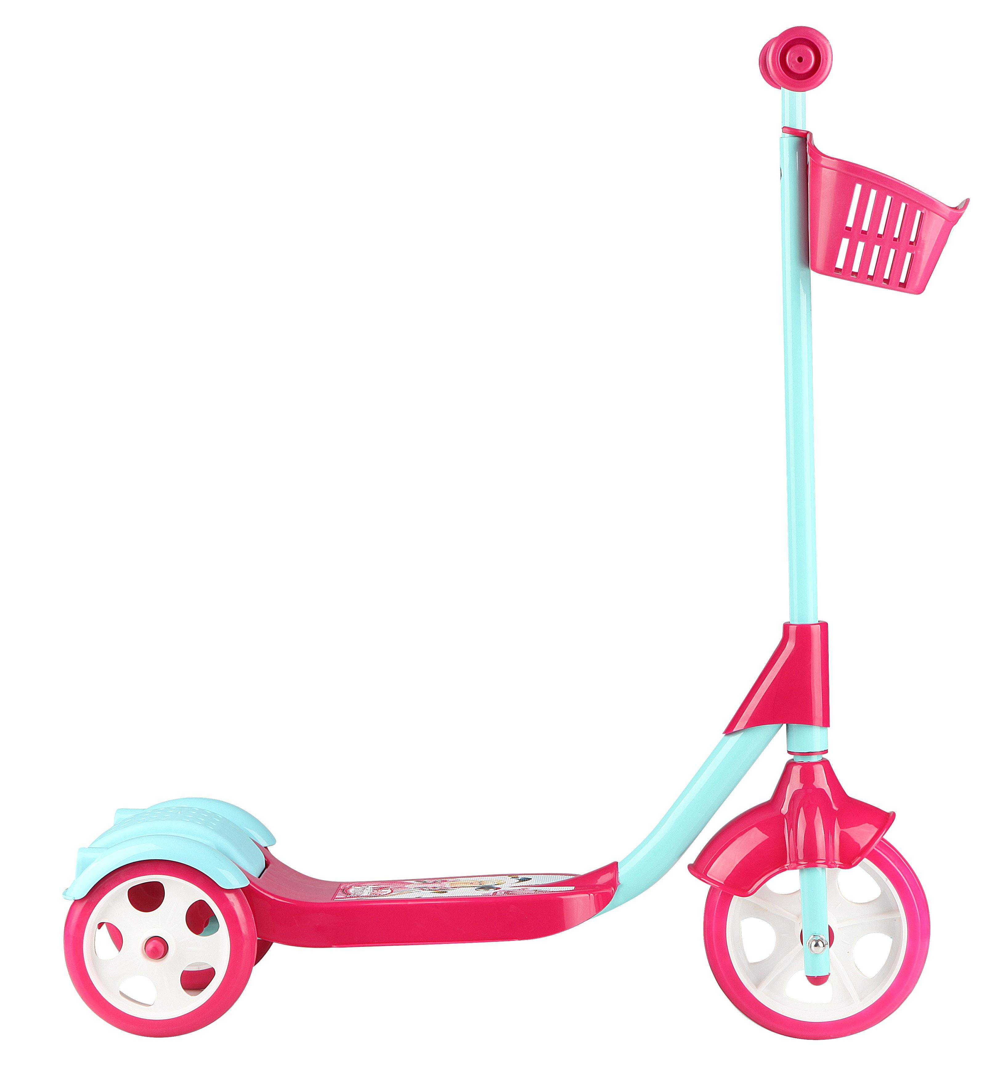 Παιδικό Τρίκυκλο Πατίνι με Καλάθι -Ροζ