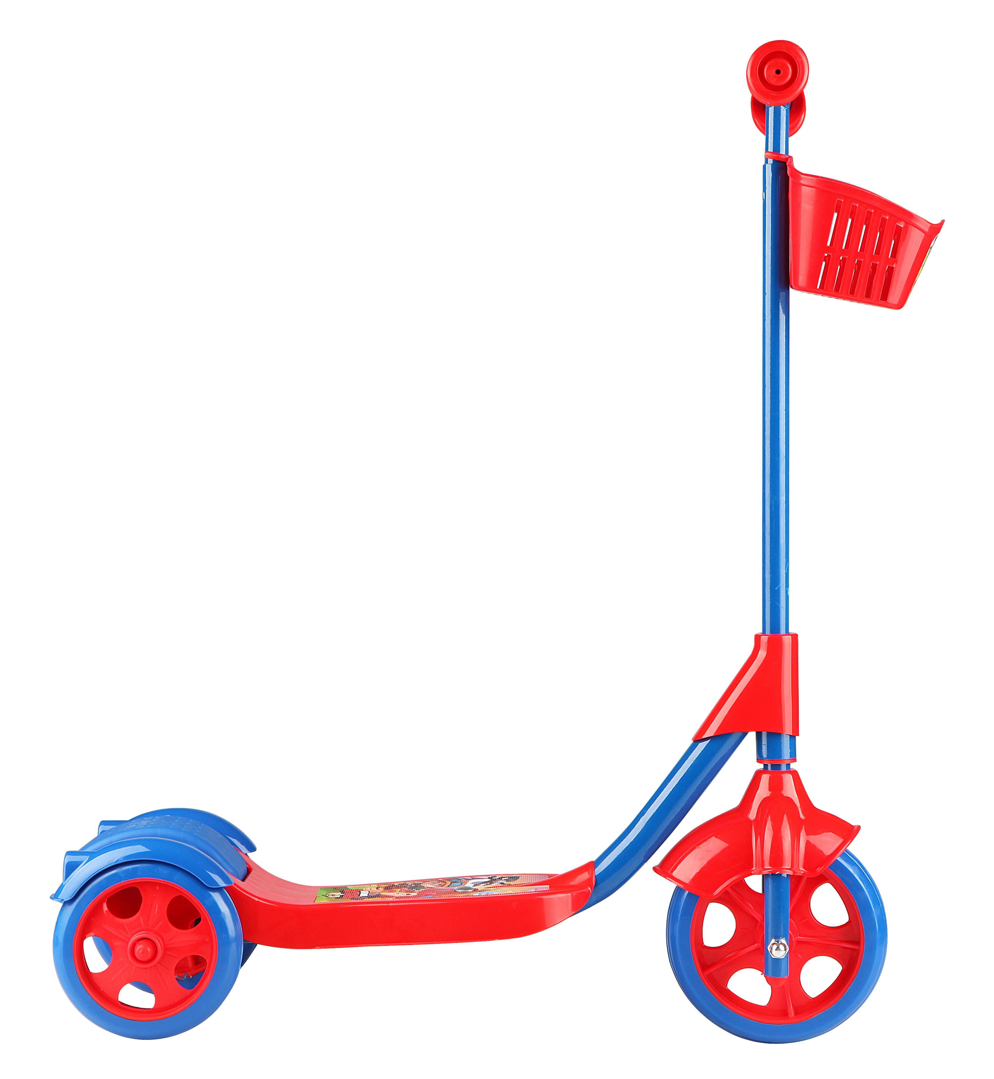 Παιδικό Τρίκυκλο Πατίνι με Καλάθι -Κόκκινο