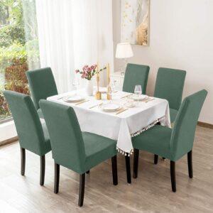 Σετ Ελαστικά Καλύμματα Καρέκλας χωρίς Βολάν  (6τμχ) Μέντα