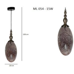 Κρεμαστό Φωτιστικό Μονόφωτο ML 054-15W