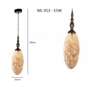 Κρεμαστό Φωτιστικό Μονόφωτο ML 053-15W