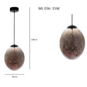 Κρεμαστό Φωτιστικό Μονόφωτο ML 056-15W